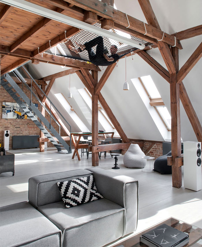 Loft Apartment in Poznan by Cuns Studio