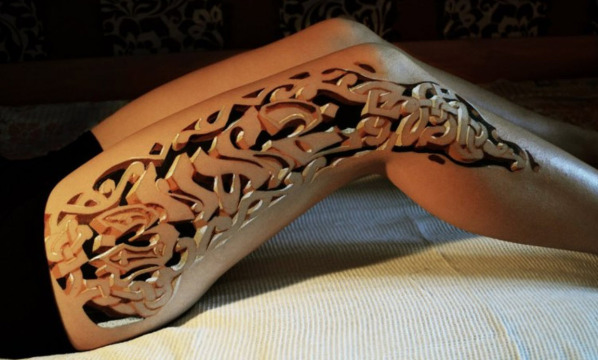 Mind-Boggling 3-D Tattoo