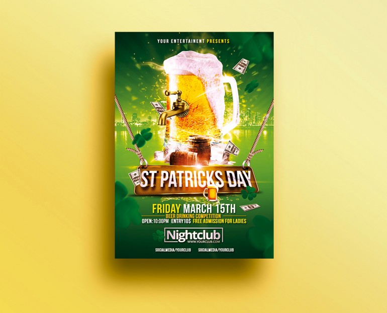 St Patricks Day Celebration | Psd Flyer Template. Creative Design perfect to promote your St Pa ...