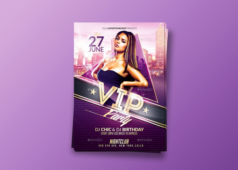 Classy Vip Party | Psd Flyer Template.Creative Design perfect to promote your Party/Event. Psd ...