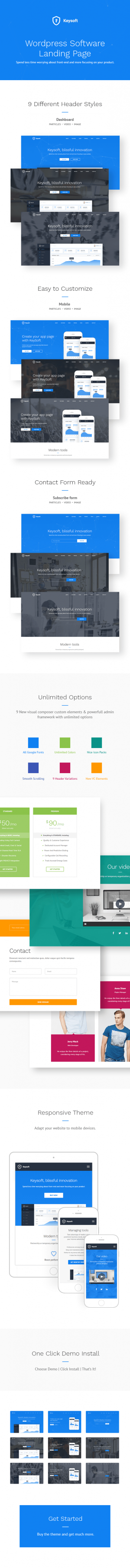 KeySoft – WordPress Software Landing Page