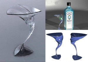 Swirl cocktail glass by Riccardo Forti