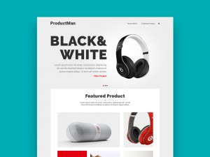 Productman Homepage Design