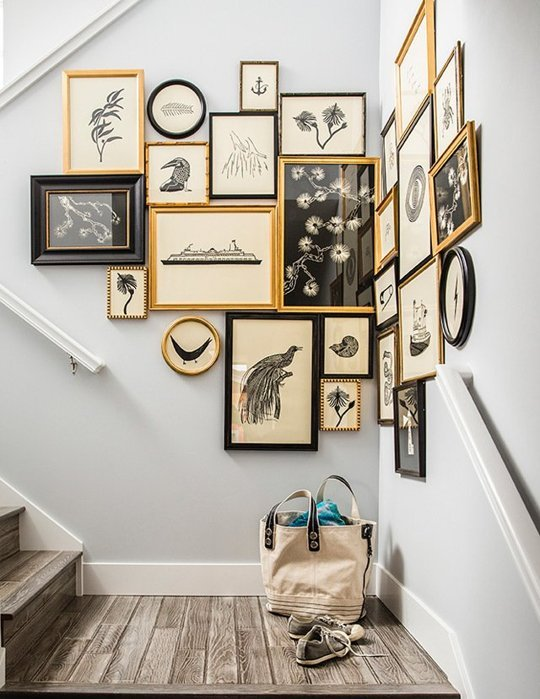 How To Decorate an Awkward Space with a Gallery Wall