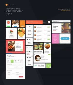 Awesome spice – Desktop UI kit Sketch App