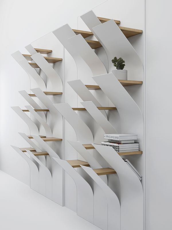 Squama bookshelves design concept by Dmitry Kozinenko