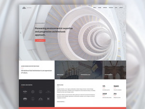 One Page Website Template for Architects.Altius is a powerful and super flexible HTML5 website ...