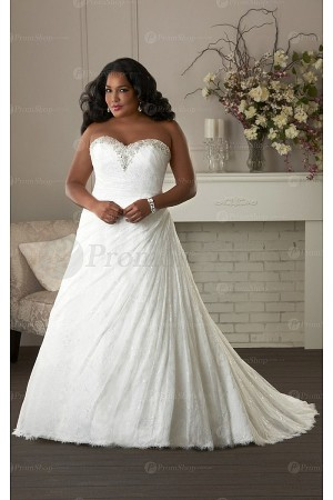 Delicate Church Sleeveless Chapel Train Lace-up Wedding Dresses