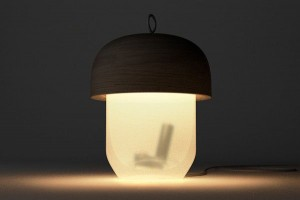 The shadow of funnel table lamp