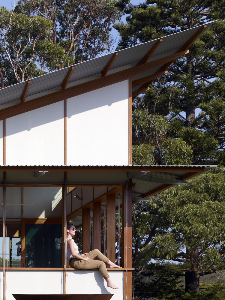 Dunn & Hill Architects have designed Dogtrot House in New South Wales, Australia for a famil ...