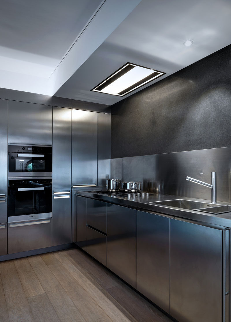 Everything About This Kitchen Is Stainless Steel