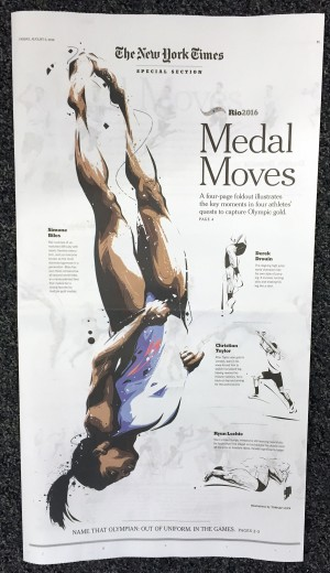 The New York Times Special Section Rio2016: Medal Moves
