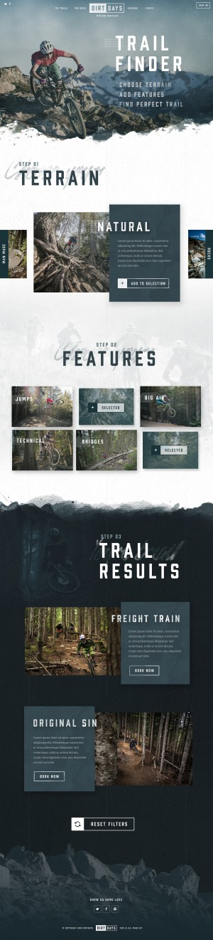 Dirtdays Trail Finder Concept