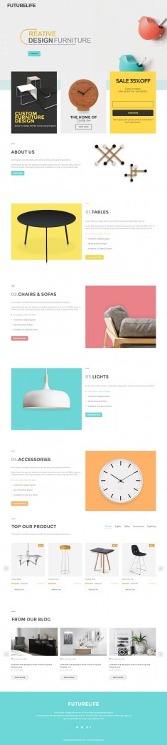 Futurelife – Clean style Ecommerce