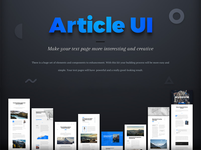 Article UI Kit Sample