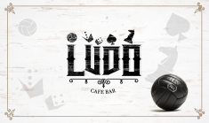 Logo Branding for LUDO Boardgames Bar-Cafe based in the north of Greece.