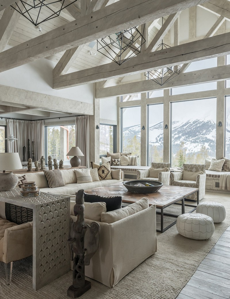 Rustic Mountain House with Zen Interiors