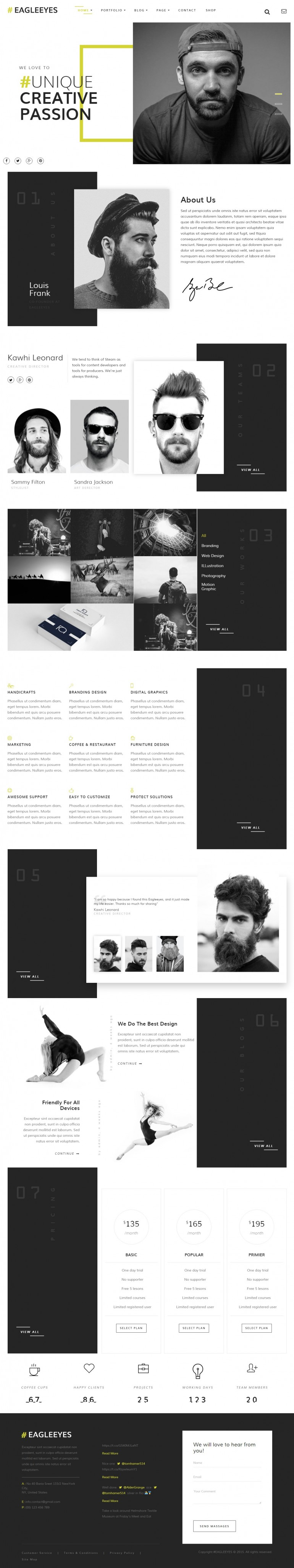EAGLEEYES – Creative Multipages and One page