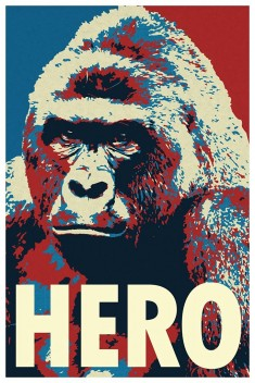 Harambe Pop Art Hero Funny Poster