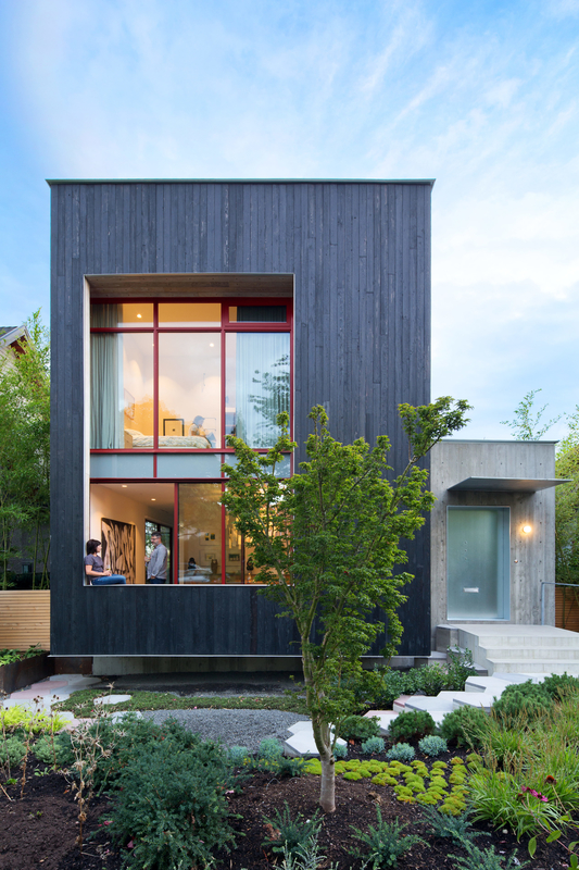 A Wild Garden Leaps Off the Walls of This Backyard Build