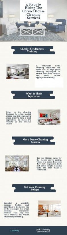 4 Steps to Hiring The Correct House Cleaning Services