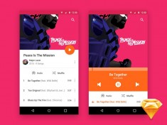 Android MP3 Player UI (Sketch)