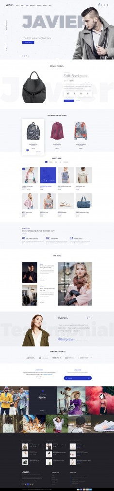 Javier – Modern E-Commerce
