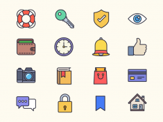 Free Filled Outline Icons