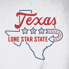 Texas design with some hand drawn typography by Jenna Bresnahan