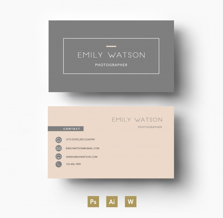 Modern two colour template