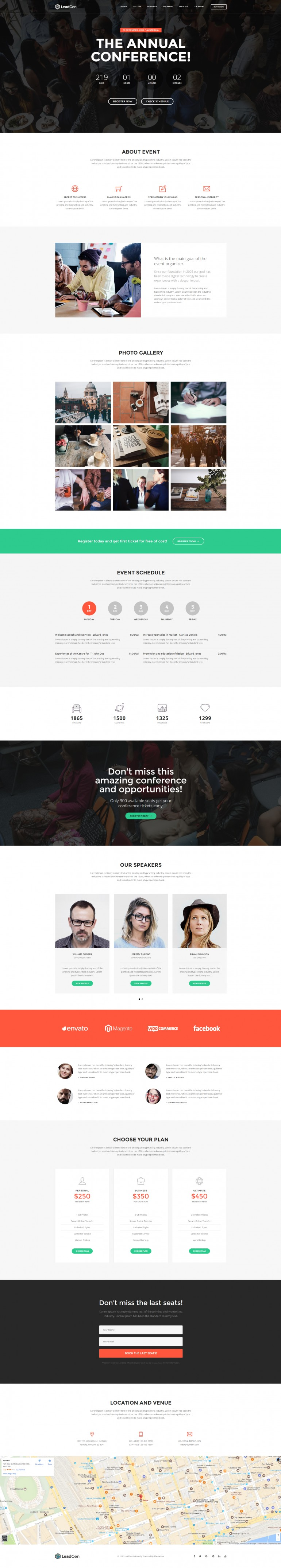LeadGen – Multipurpose Marketing Landing Page – Event