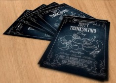 Free Thanksgiving Flyer Template PSD