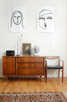 House Tour: Warm Colors and Art in a Rental Apartment