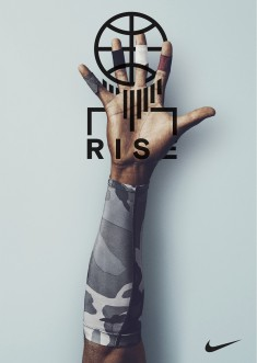 Nike Rise Campaign Lock Up Design