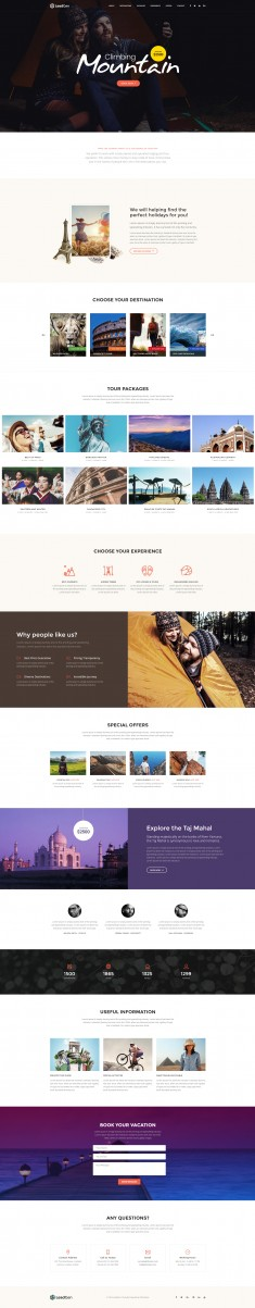 LeadGen – Multipurpose Marketing Landing Page – Travel Agency