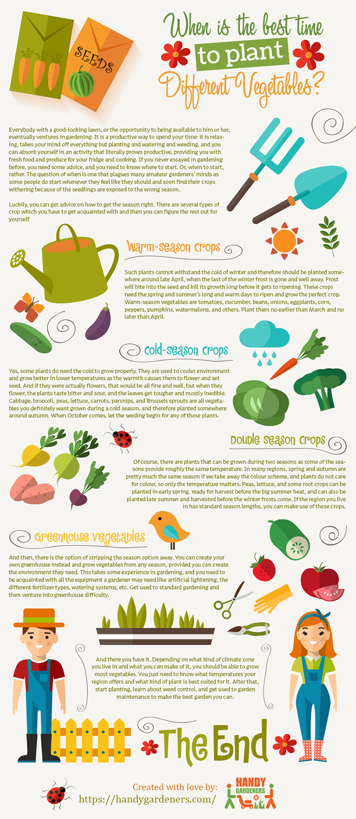 The experts from Handy Gardeners in London share an infographic with useful tips for beginner ga ...