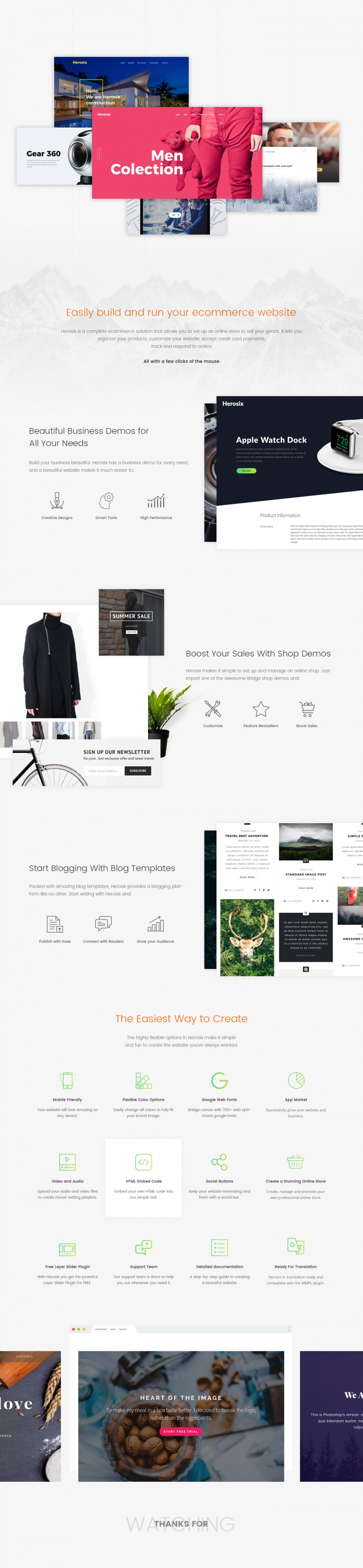 Easily build and run your Ecommerce website
