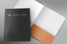 Front and Back Folder Mockup Template
