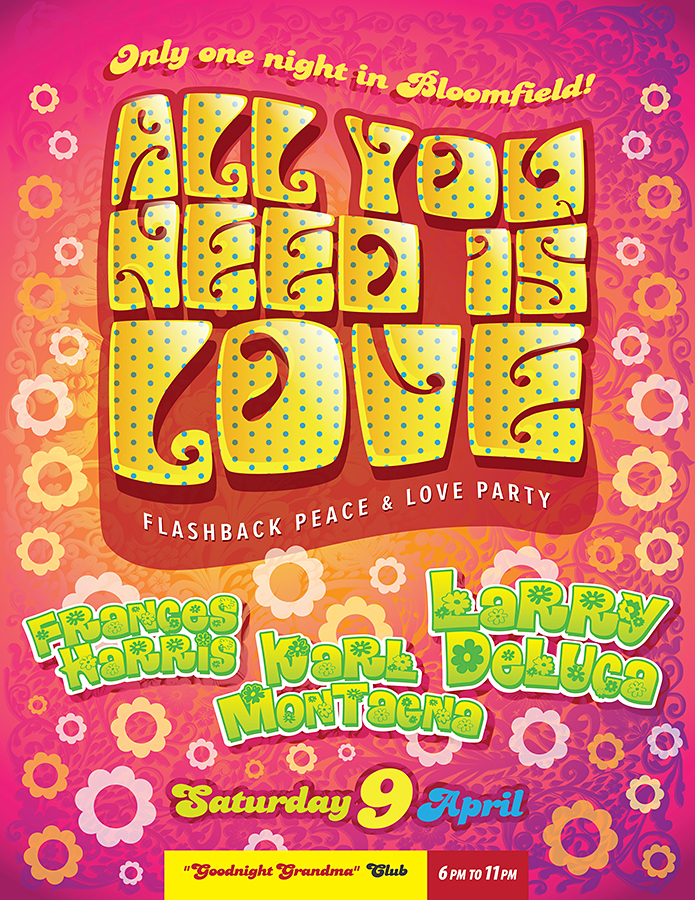 All You Need Is Love Flyer Design