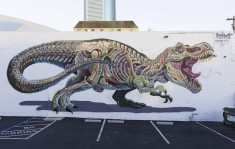 Street Art Murals Exposes the Anatomy of Characters