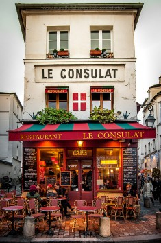 Restaurant Le Consulat. Montmartre, Paris, France