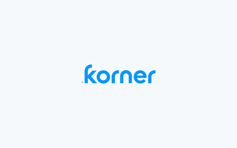 Korner Logotype Wordmark on light background.