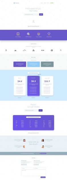 Space Host Landing Page