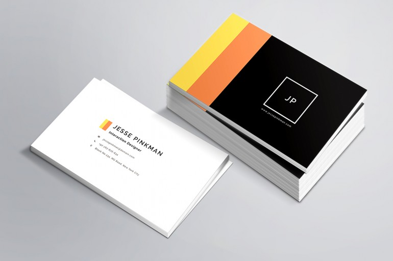 Impressive personal business card template in 3 colors