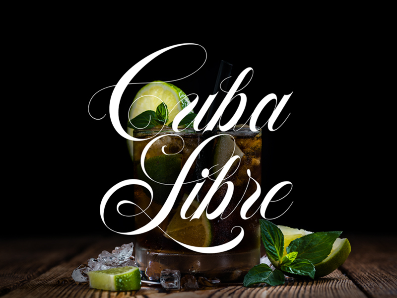 Cuba Libre – Made with Flourish Typeface