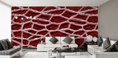 Purple red wallpaper with a mesh structure.
