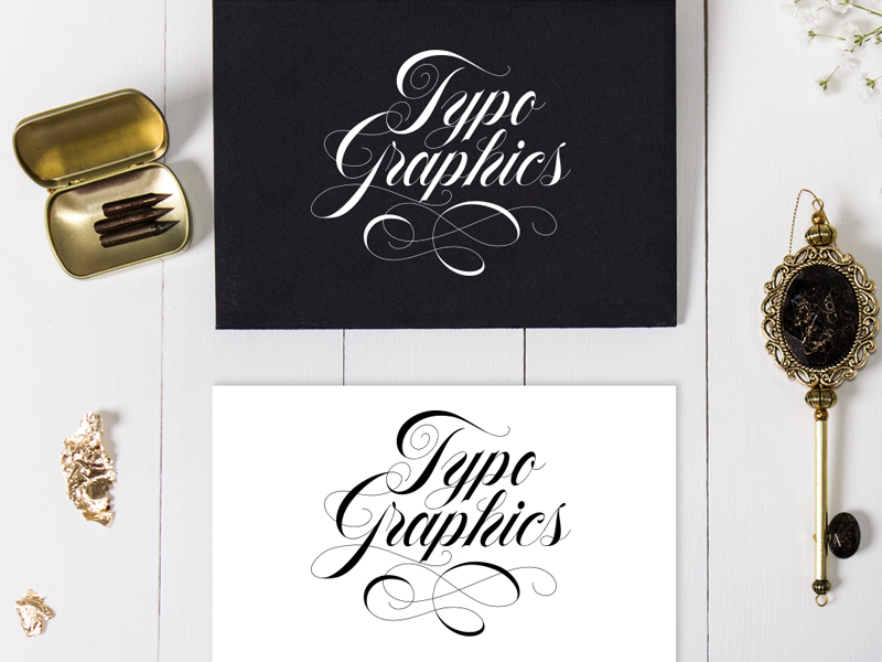 Typo Graphics – Made with Flourish Typeface