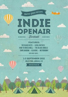 Indie Open-air Festival Flyer and Poster Template