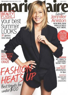 Jennifer Aniston with Jason Bateman, Jason Sudeikis and Charlie Day in US Marie Claire July Issue