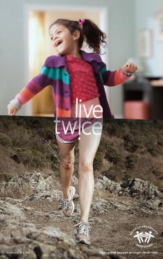 Mexican Transplant Association Print Advert By Publicis: Live twice